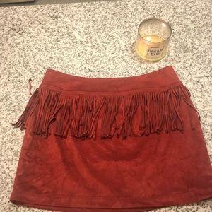Express suade skirt
